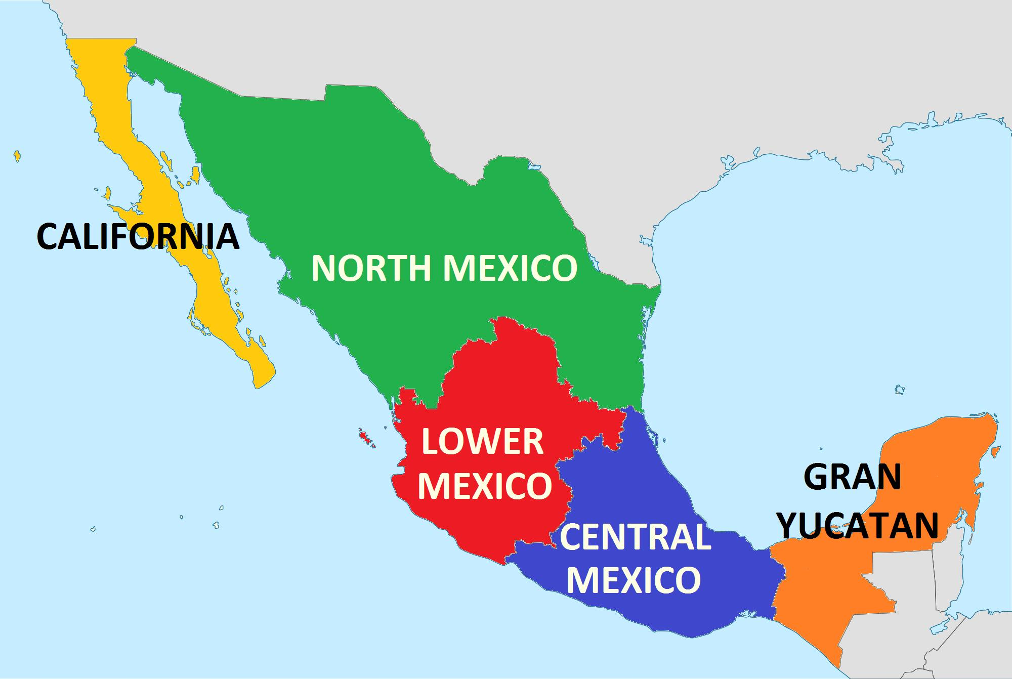 Map of the states of Mexico - States Mexico map (Central America ...