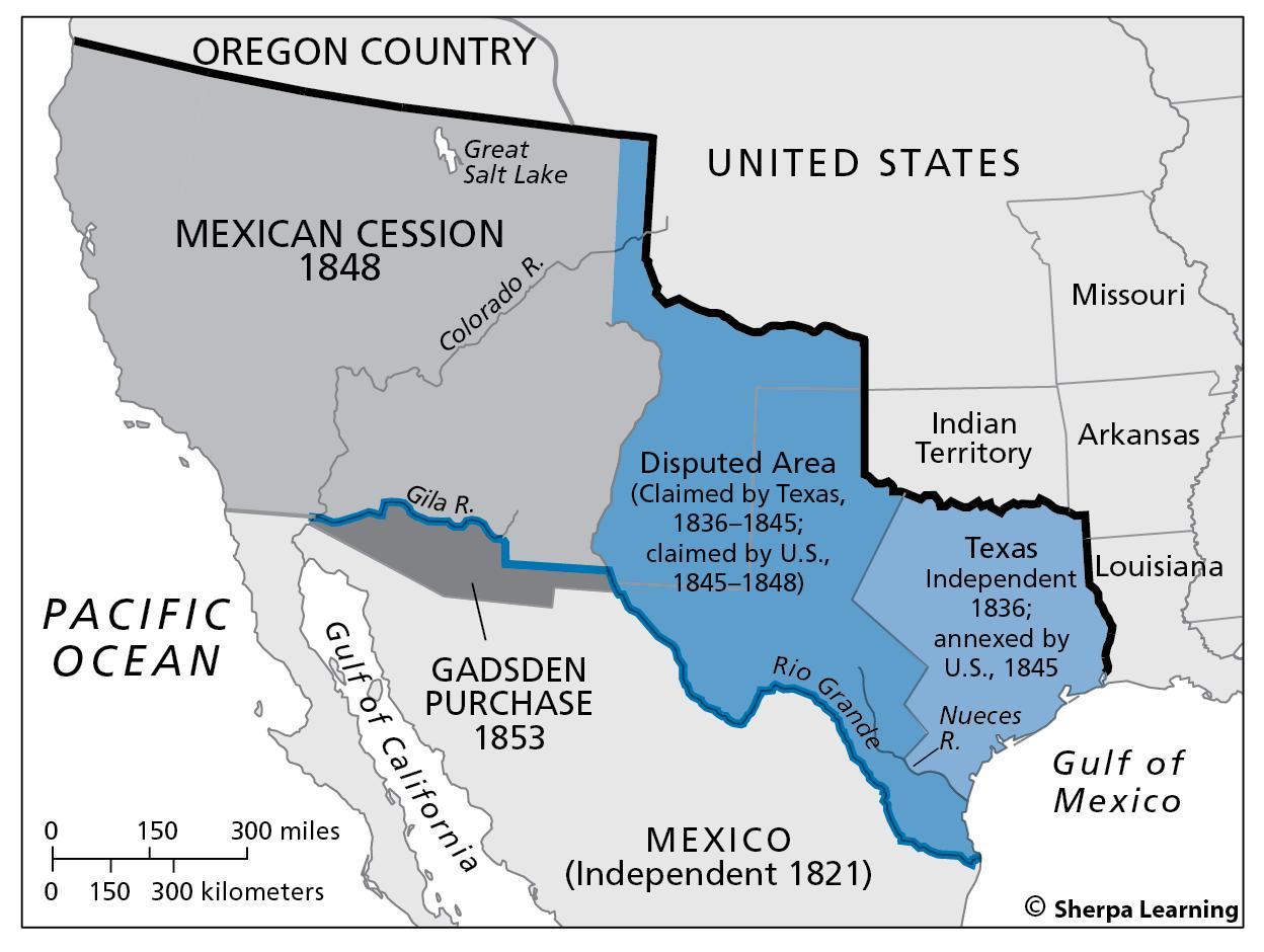 Mexican Cession Map Mexican cession map   Map of mexican cession (Central America  Mexican Cession Map