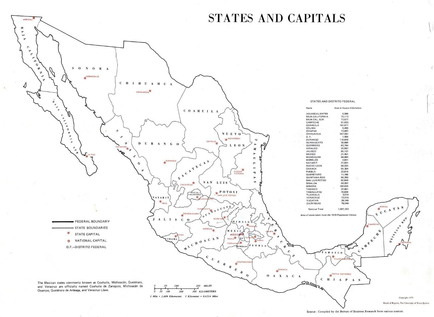 Mexico Map Labeled Labeled Map Of Mexico Central America Americas