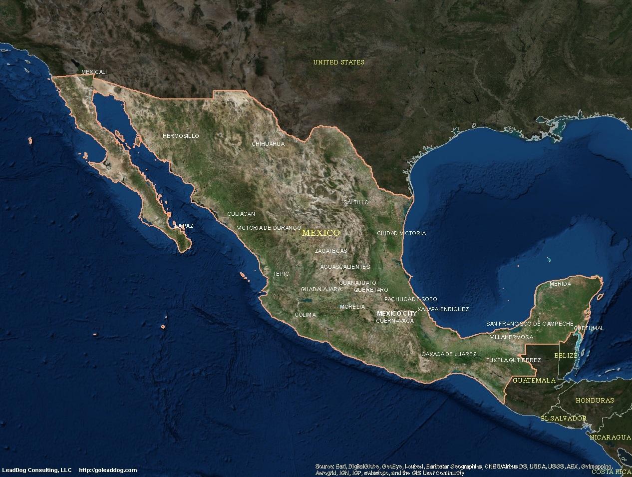 satellite map mexico