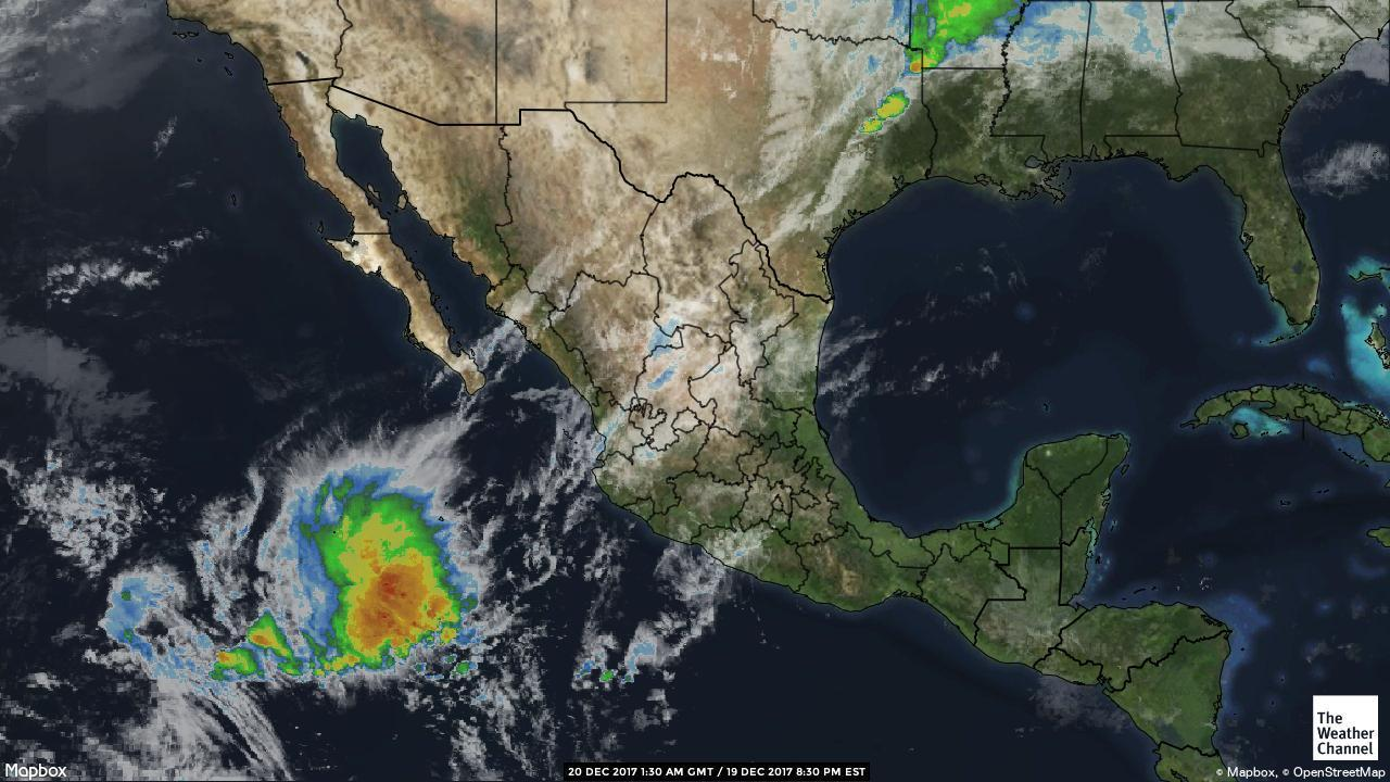 Mexico Weather Satellite Map Satellite Weather Map Mexico Central