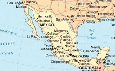 South Mexico Map Map Of South Mexico Central America Americas