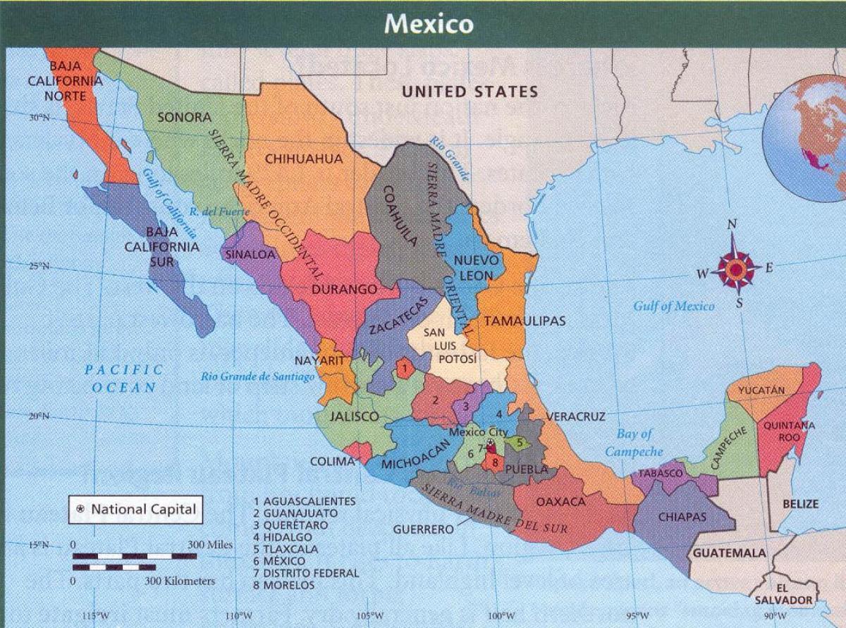 Aztec ruins Mexico map   Aztec Mexico map (Central America   Americas)