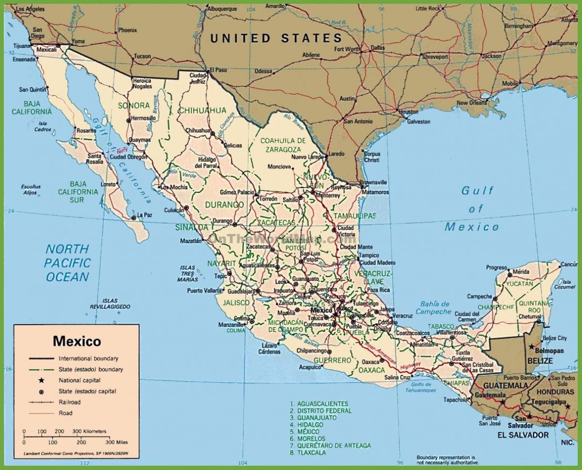 Mexico in map