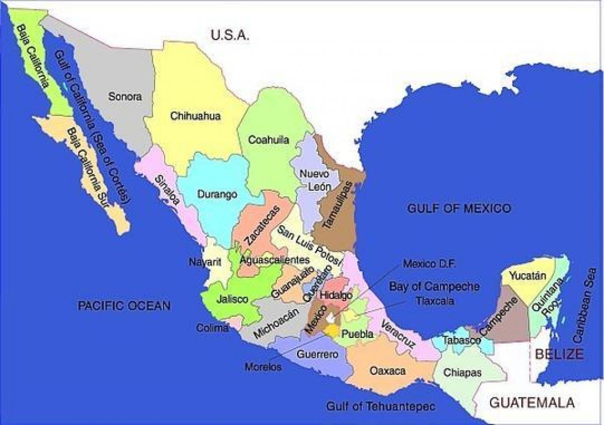 southern mexico map