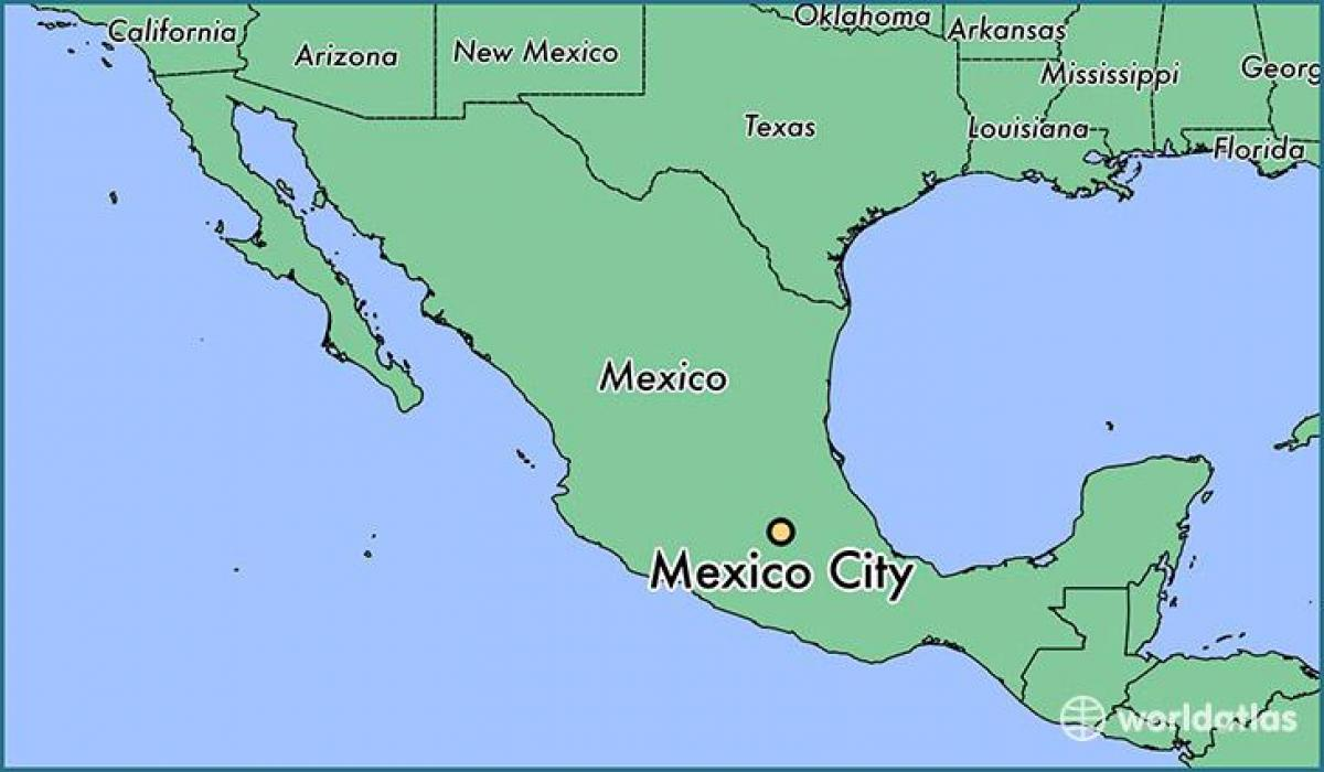 show a map of mexico