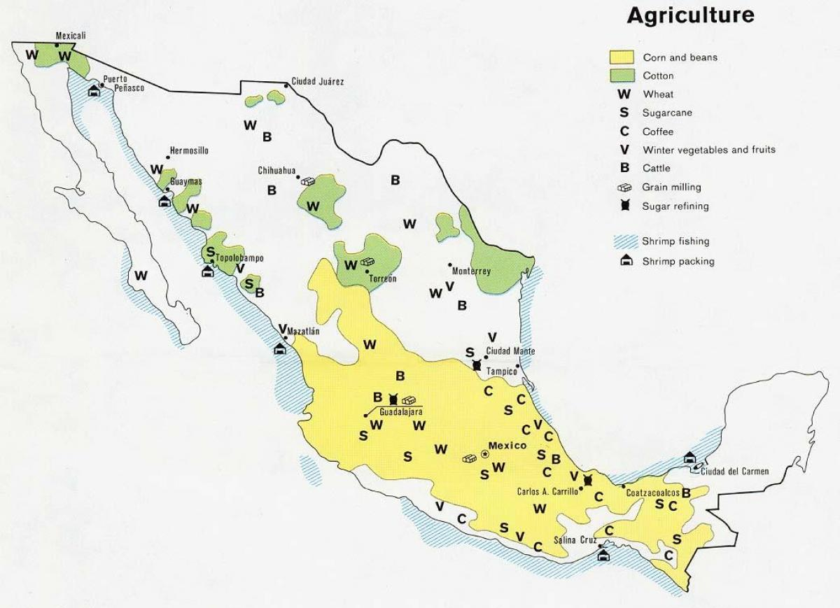 map of mexico agriculture