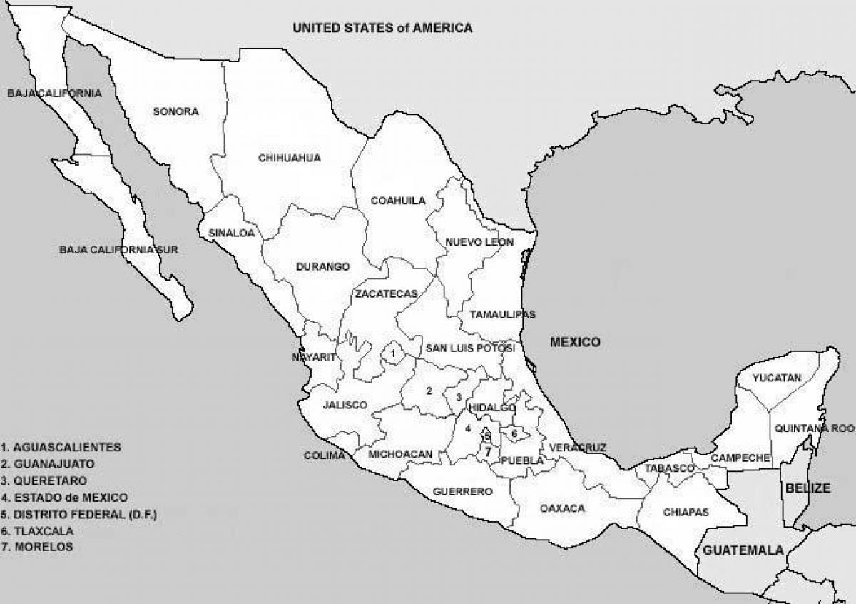 Image result for map of Mexico counties