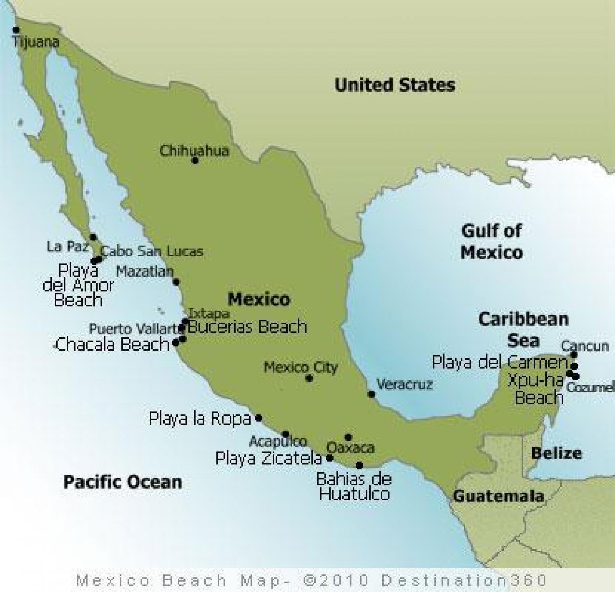 Mexico east coast map East coast Mexico map Central America