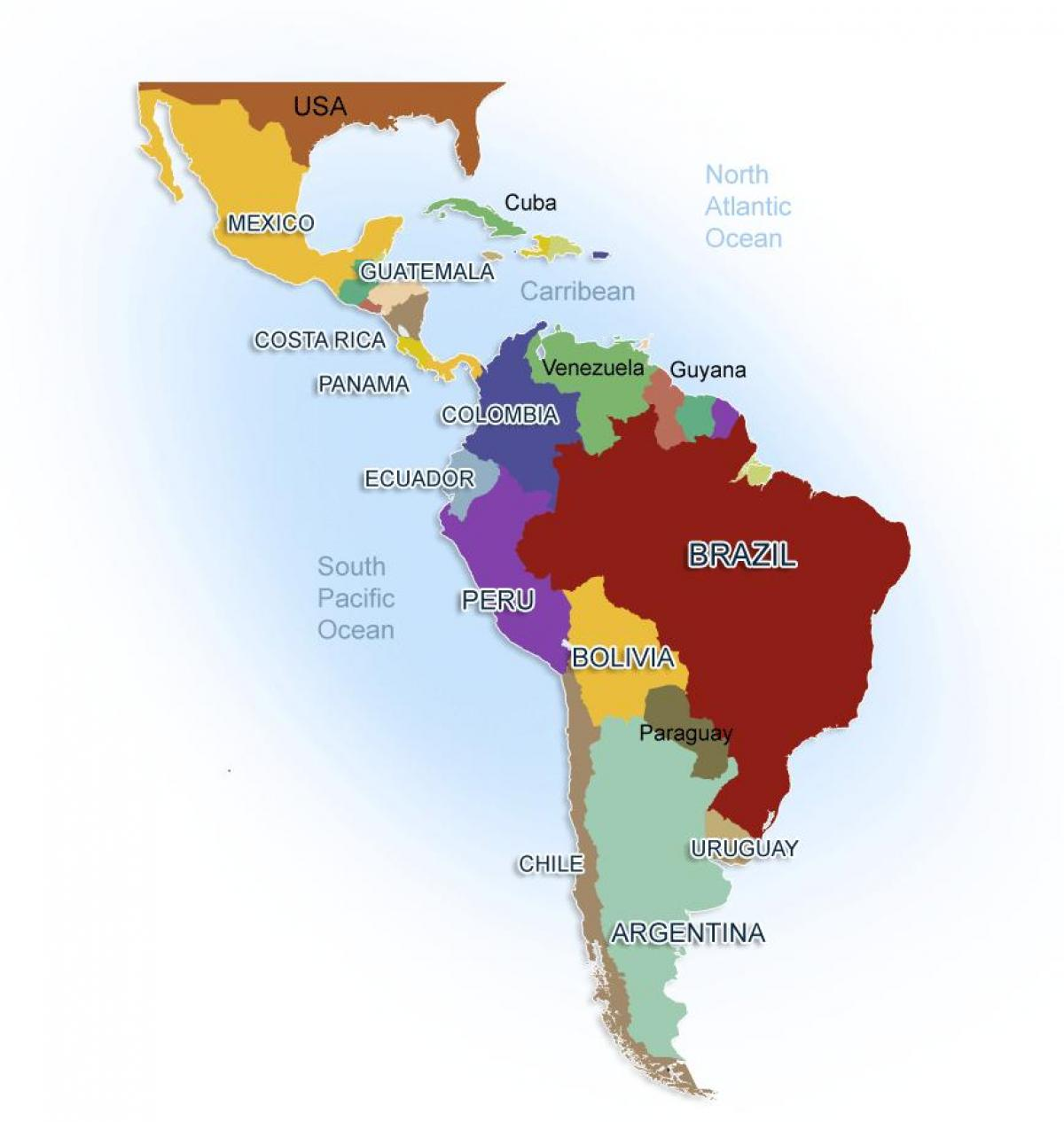 South America And Mexico Map Map Mexico And South America Central