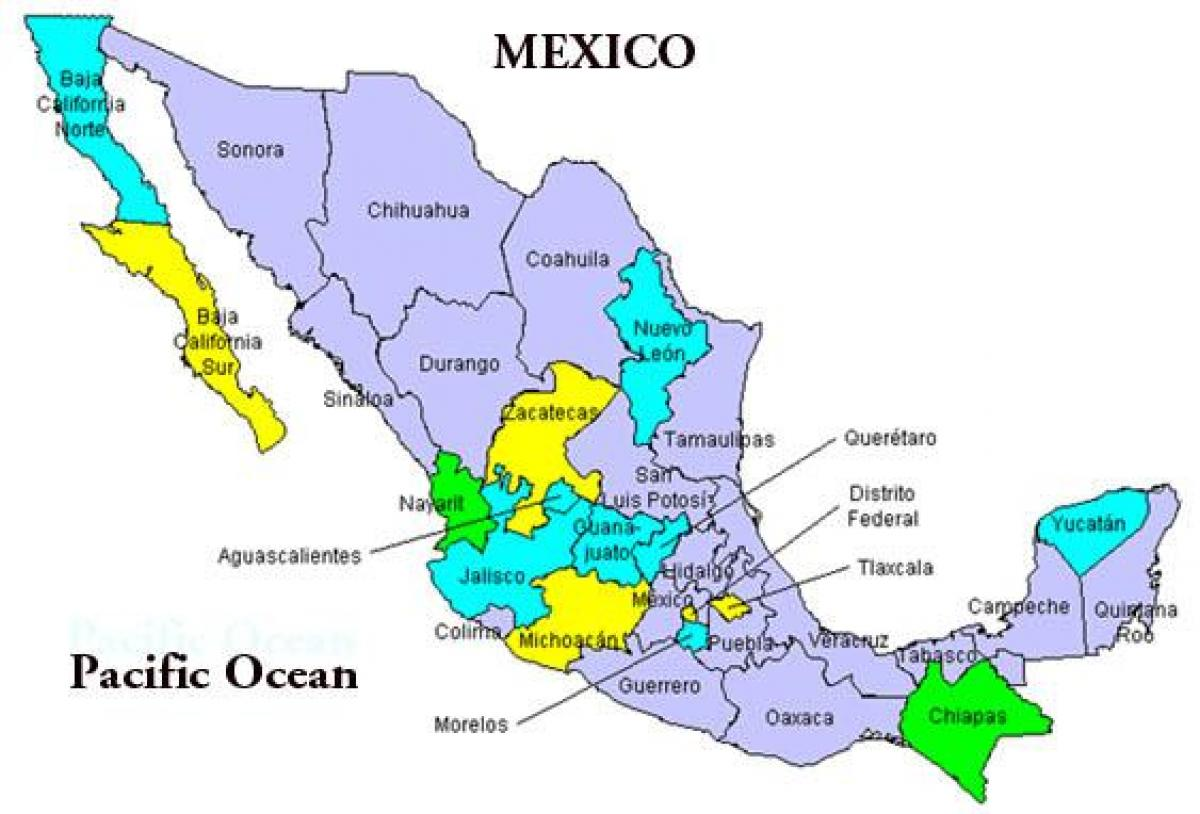 how to study mexico map