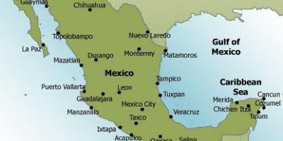 Mexico map Map Mexico Central America Americas