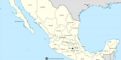 Weather map Mexico - Weather Mexico map (Central America - Americas)